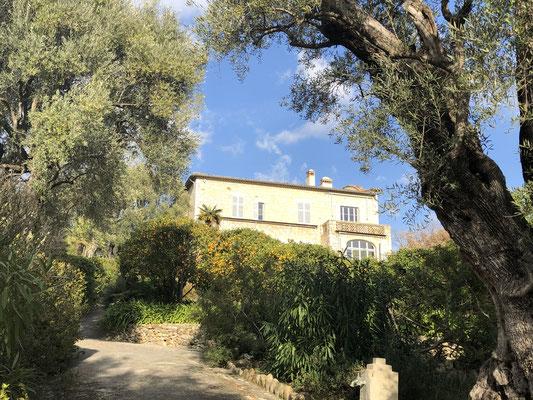 Auguste Renoir´s Villa: seine letzten Jahre verbrachte er hier, nachdem er endlich Geld mit seiner Kunst verdient hatte.