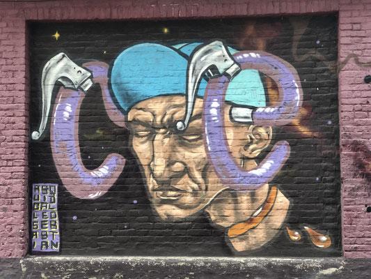 Graffitis sind in Belgien an einigen Stellen erlaubt und damit richtig gut.