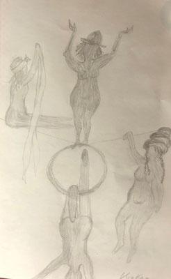 Krakau, 14 x 21 cm, Bleistift auf Papier