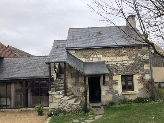Unser wunderschönes Häuschen (Gite) in Brigne in der Nähe von Angers.