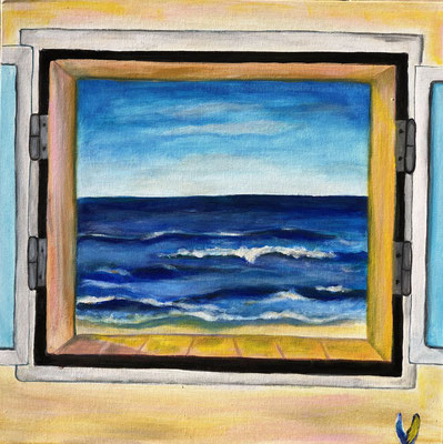 Unser Fenster, 40 x 40 cm, Acryl