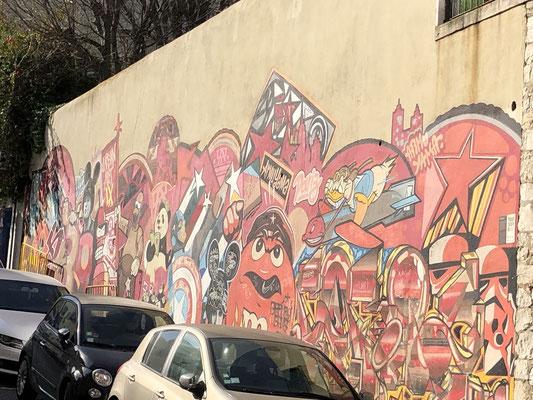 Graffitis auf unserer Tour.