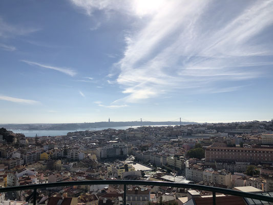 Ausblick auf Lisboa.