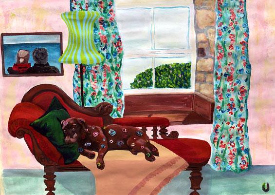 Cornish Dreams, 70 x 50 cm, Acryl auf Papier