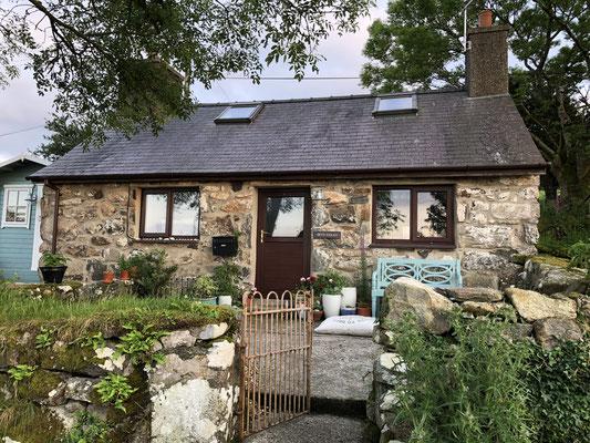 Unser neues Zuhause, eine Schäferhütte in Wales.
