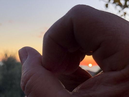 Sonnenuntergang im Meer ... ohne Worte.