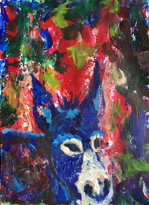 ROBERTS COCO, Acryl auf Papier,  39 cm x 29 cm