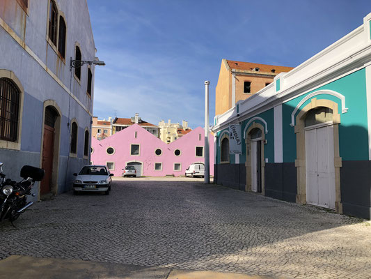 Häuser am Hafen.
