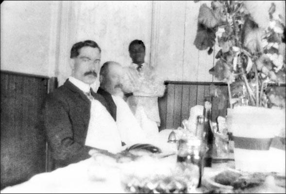 Louis-Philippe Desbiens, Raoul Landrieux et Louis Jeffrey, natif de la Dominique, baptisé à Anticosti en janvier 1904