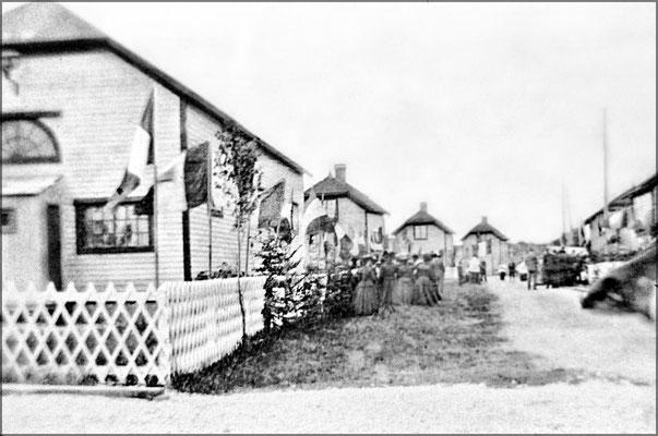 Acceuil d'Henri Menier à Baie Ste-Claire