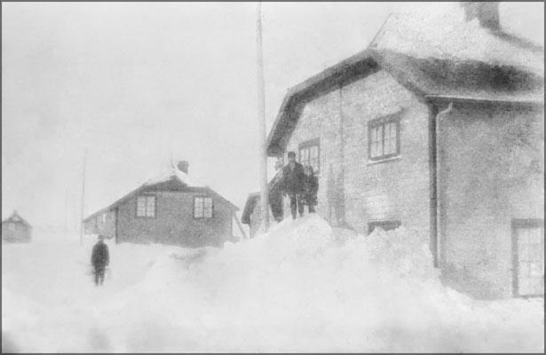 Tempête de neige à Baie Ste-Claire vers 1903