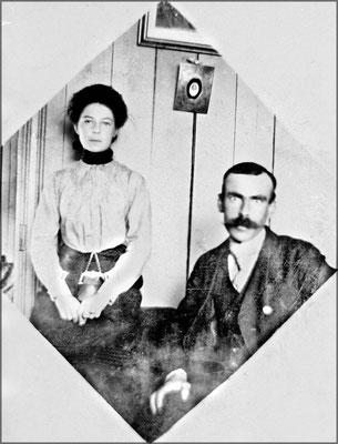 Blanche Gosselin et son oncle L.P. Desbiens