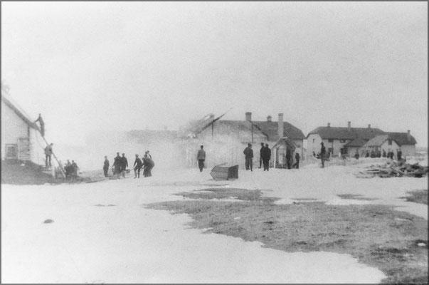 Incendie d'une maison vers 1903