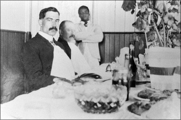 Louis-Philippe Desbiens, Raoul Landrieu, comptable et Jeffrey, le serviteur noir vers 1903