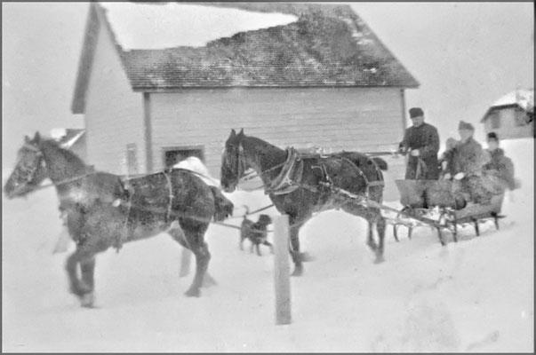 Cariole d'hiver à Baie Ste-Claire