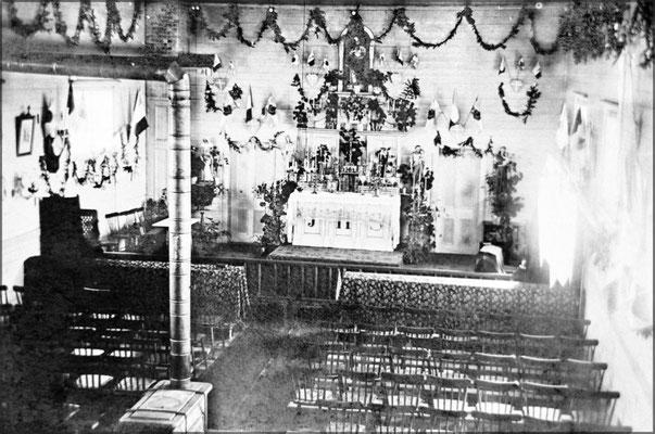 Intérieur de l'église de Baie Ste-Claire