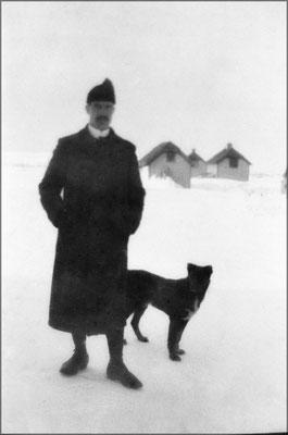 Louis-Philippe Desbiens promène son chien