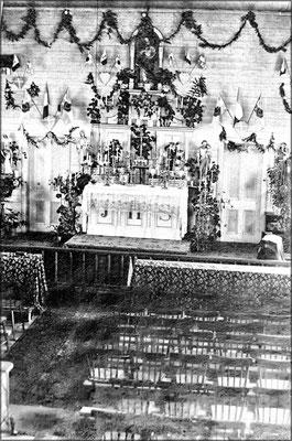 Intérieur de l'église de Baie Ste-Claire (1900-1905)