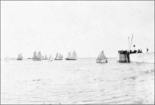 Course de barques de pêche, Baie Ste-Claire