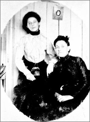 Blanche Gosselin et sa mère Anna Lapointe