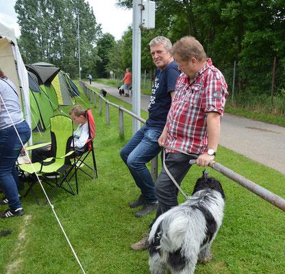 Ingo und Klaus mit Barney