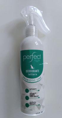 Confezione spray avanti Deodorante lettiera per Gatto Probiotic Line sopra il tavolo