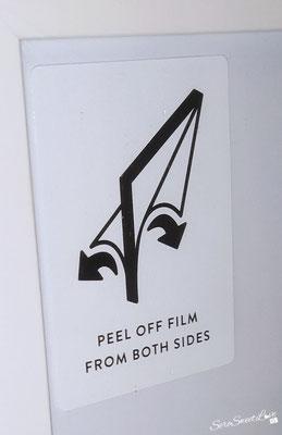 Fronte Cornice bianca  in legno con pellicola protettiva Poster Store