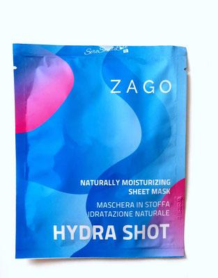 Fronte  confezione bustina Maschera in tessuto Hydra Shot Zago