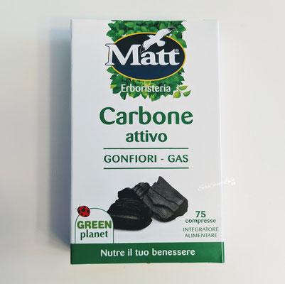 Fronte confezione Integratore alimentare carbone attivo vegetale Matt