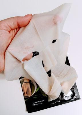 Texture maschera viso e collo al tè matcha Teaology