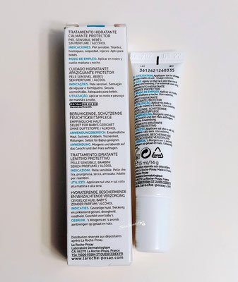 Retro Tubetto crema viso e collo Toleriane sensitive La Roche-Posay sul tavolo