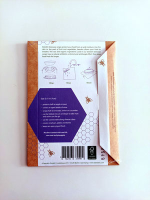 Pellicola alimentare naturale Beeskin retro confezione