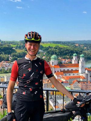 gute Laune zum Start an der Veste Oberhaus, Passau