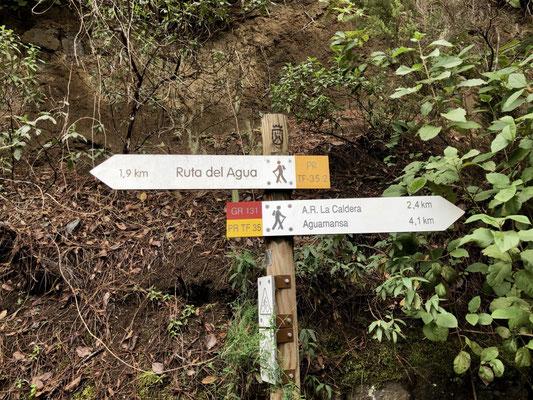 Abzweig zur Ruta del Agua PR-TF 35.2