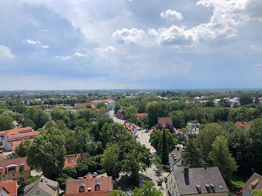 Ausblick vom Schloss in Dachau nach Süden