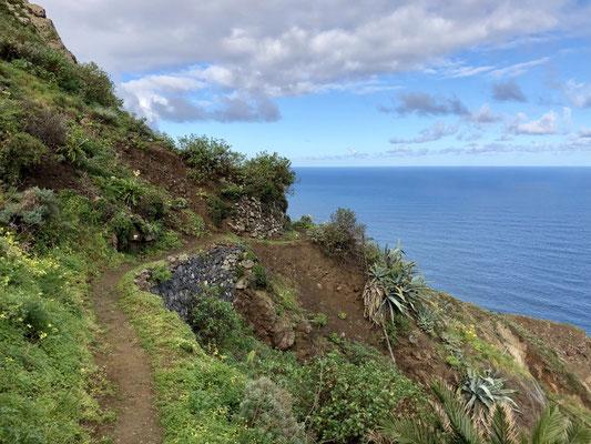 Wanderpfad kurz nach Taganana