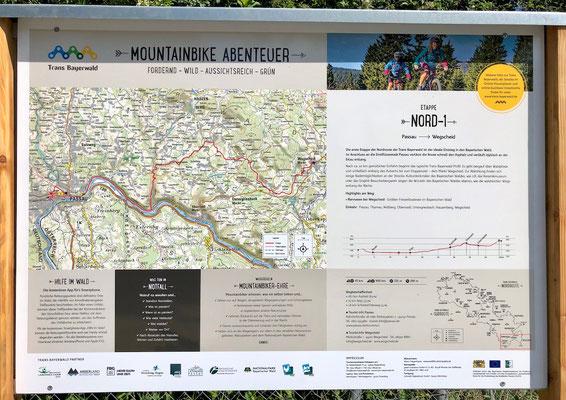 Schild zur Trans Bayerwald