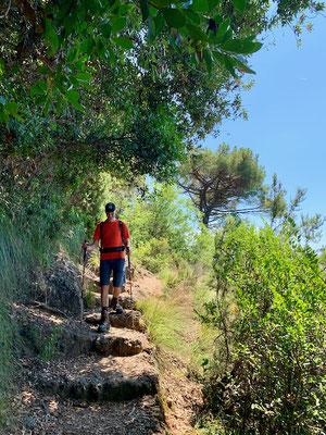 Weg von Nozarego nach San Fruttuoso