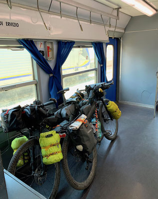 Rückfahrt im Regionalzug