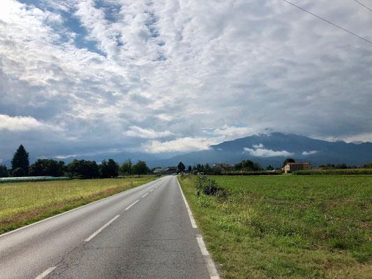 am Fuße der Alpen bei Cuneo