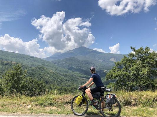 wunderschöne Ausblicke im Apennin
