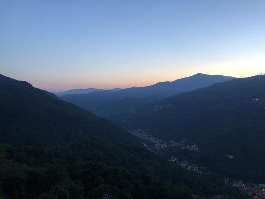 Abendstimmung in Liguriens Bergen
