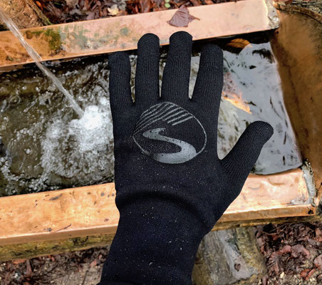 Test showers pass crosspoint knit waterproof gloves