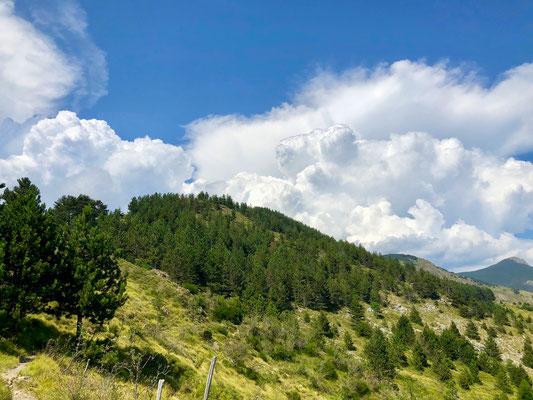 Gewitterwolke am Monte Aiona