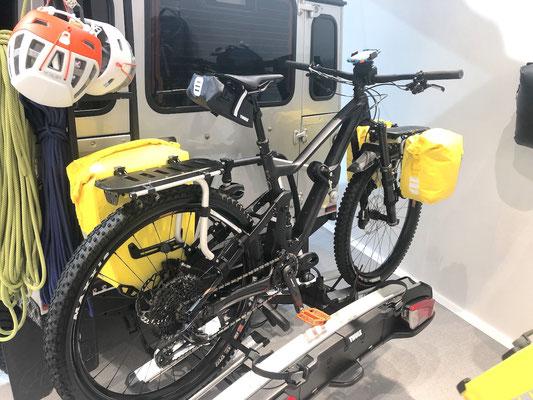 Berghuhn, OutDoor by ISPO, Radreise, Radtour, Bikepacking, Thule, Gepäckträger Bikepacking