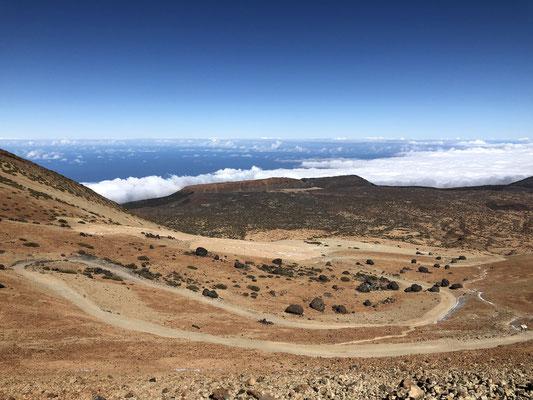 Huevos del Teide von oben