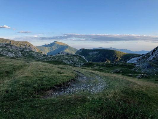 Sonnenuntergang am Colla Piana, 2285 m