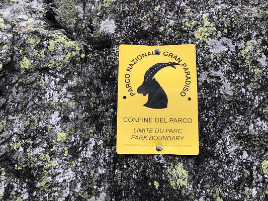 Beginn Nationalpark Gran Paradiso
