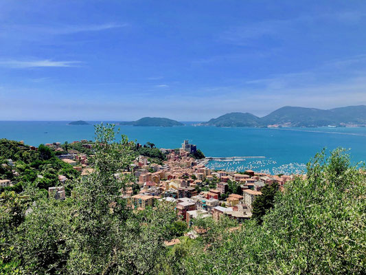 Berghuhn, La Spezia, Ligurien, Italien, Gravelbike