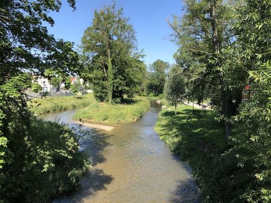 unterwegs auf dem Ammer-Amper Radweg - Pause in Allershausen